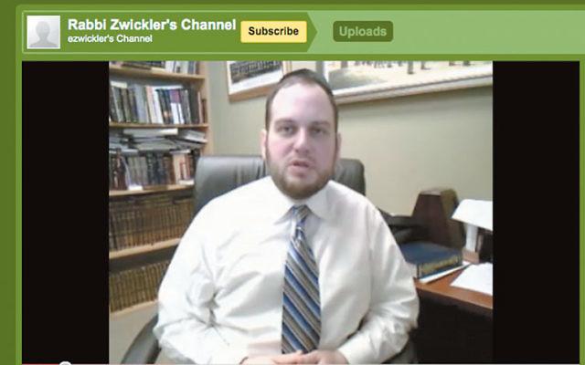 Rabbi Eliezer Zwickler's weekly YouTube videos focus on the Torah portions.