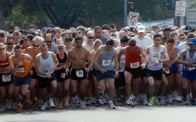 Runners at the starting line of the 2004 Run for Rachel