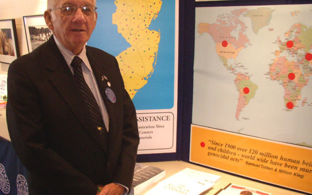 Dr. Paul Winkler at 25th anniversary event of the Commission on Holocaust Education at Kean University in Union in October 2007.