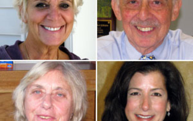 Clockwise, from top left: Jill Tekel: Israel had no impact on my vote; Jack Schrier: No reason to vote for Corzine; Ellen R. Kramer: Social issues are Jewish; Gloria Cohen: Taxes are too high.