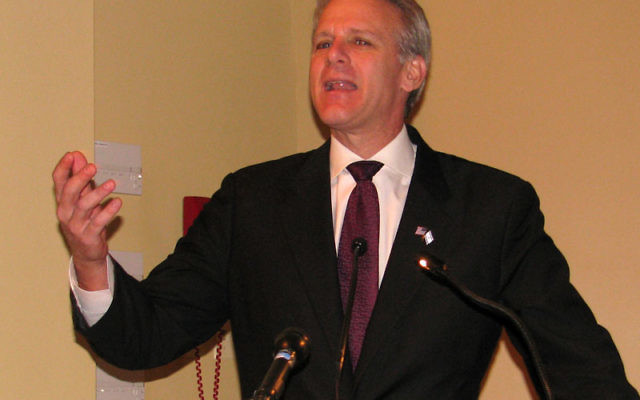 """Michael Oren, Israel's ambassador to the United States, called the strain """"a crisis of historic proportions."""" Oren is shown at a December 2009 speech at Newark Beth Israel Medical Center."""
