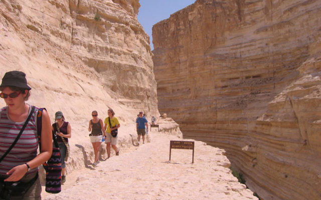 Students at Ben-Gurion University explore the Negev. Photo courtesy Ben-Gurion University