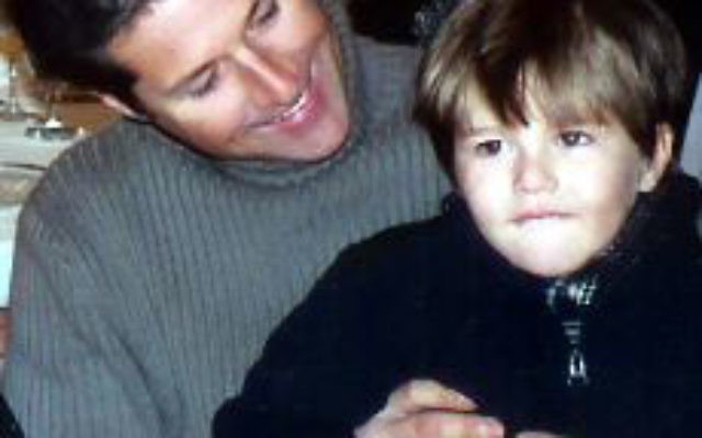 David and Sean Goldman, before the boy's mother took him to Brazil in 2004.