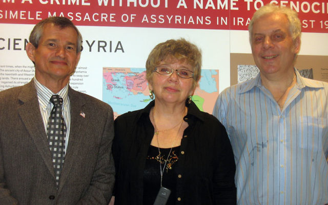 Four former refuseniks now living in Livingston have established the new Museum for Human Rights, Freedom, and Tolerance, which had its first exhibit in Newark in mid-April. The museum founders are, from left, Boris Shapiro, Luba Sindler, Igor Kotler, a