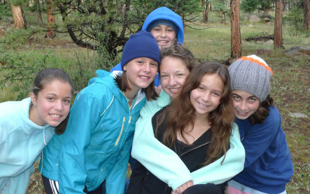 Shay Weiser-Schlesinger of Livingston, second from right, hanging with friends at Ramah Outdoor Adventure in the Rocky Mountains. Photo courtesy Ramah in the Rockies