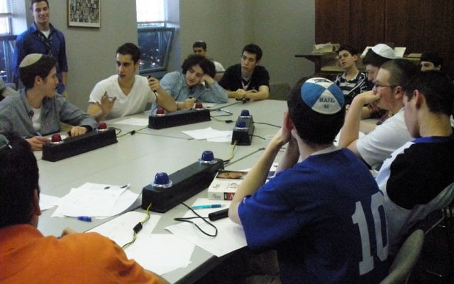 College Bowl teams from the New Jersey division of the Yeshiva College Bowl League competed March 16 in South River during the last meet of the year.