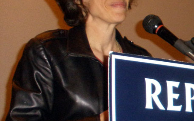 Jennifer Rubin, chief blogger and contributing editor for Commentary magazine, criticized the Obama administration's handling of the Israeli-Palestinian conflict. Photo by Debra Rubin