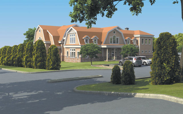 An artist's rendering of the 16,350-square-foot building the Chai Center at Short Hills wants to put up on its property at 1 and 7 Jefferson Rd. Photo courtesy www.chaicenter.net