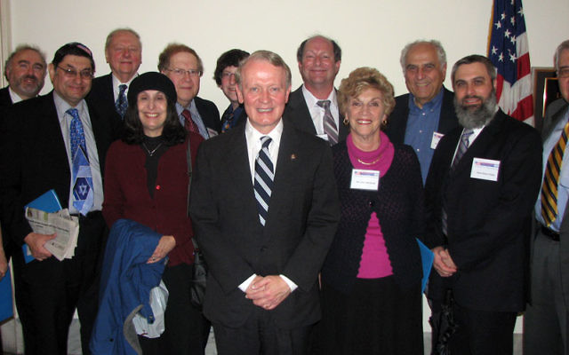 NORPAC delegates meet with Congressman Leonard Lance (R NJ-Dist. 7) during the May 12 mission to Washington. Photo courtesy NORPAC