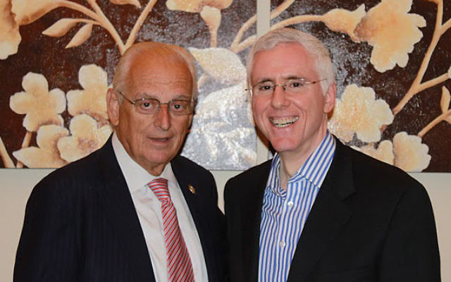 Rep. Bill Pascrell, left, with fund-raiser cohost Mort Fridman of Englewood.