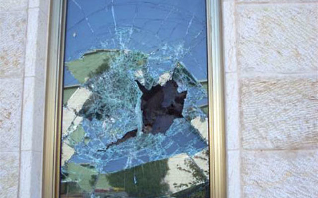 Vandals broke windows and spraypainted graffiti April 14 at the Progressive synagogue Kehilat Ra'anan in the town of Ra'anana.
