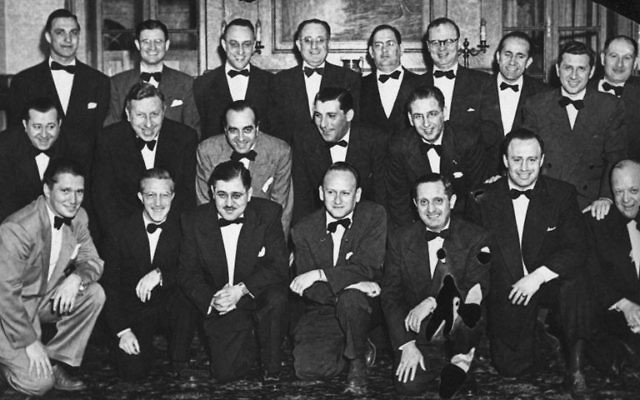 Back in the day — a men's club gathering at Temple Sharey Tefilo in East Orange in 1951.