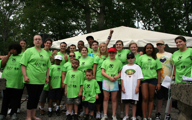 Walkers and runners in Verona Park for last year's Valerie Fund event.