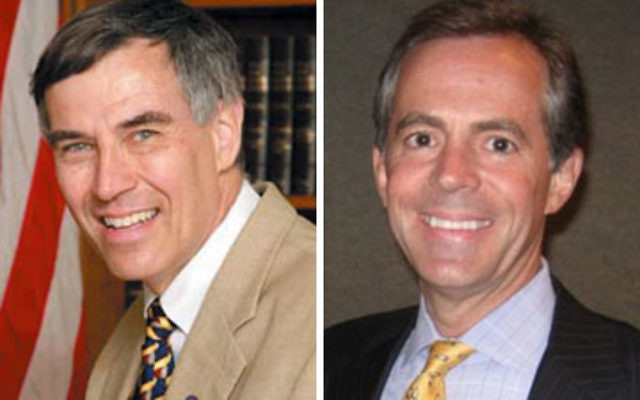 Left, Rep. Rush Holt (D) is serving his sixth term. Right, businessman Scott Sipprelle (R ) lives in Princeton.