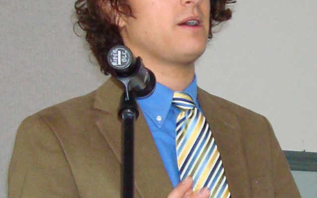 Devin Naar delivers the Dorothy Koppelman Memorial Holocaust Lecture at Rider University in Lawrenceville on June 6. Photo courtesy Dorothy Koppelman, Holocaust/Genocide Resource Center