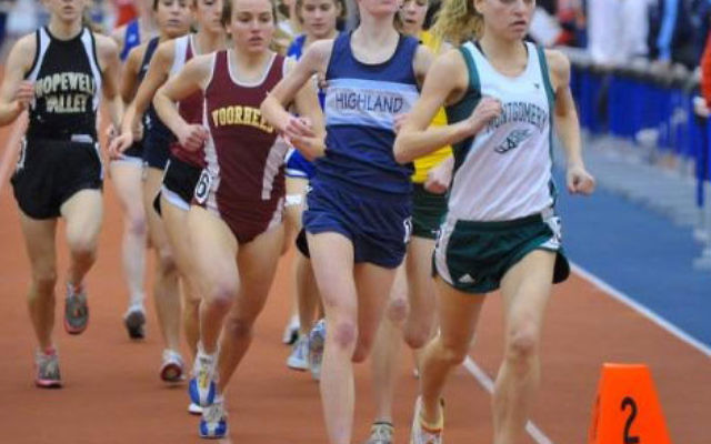 Lara Shegoski led the pack at the NJ Group Four State Championship on Feb. 28, but finished in second place by one-10th of a second.