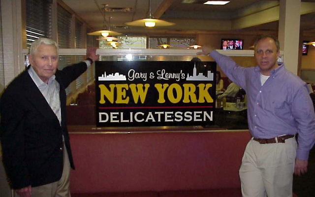 Leonard Punia, left, and Gary Schindler joined forces to open Gary and Lenny's New York Delicatessen in Lawrence. Photo by Matt Schuman