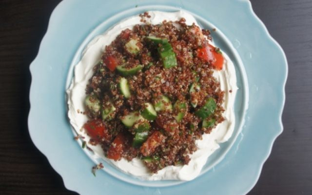 Red Quinoa Tabbouleh With Labne