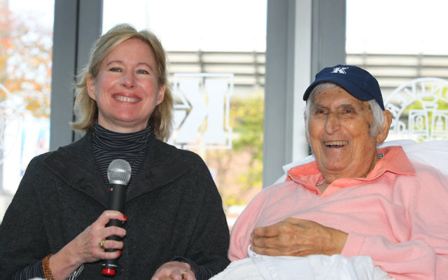 Kean University renamed its Athletic Hall of Fame in honor of Abner Benisch, right. With Benisch is Cynthia McChesney, senior development officer for the Kean Foundation. Photos courtesy Kean University
