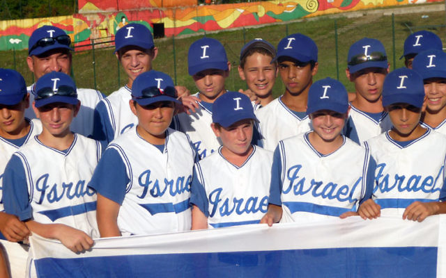 Lipsey, first row, second from right, and his teammates were on the first team from Israel to win the championship of the Tuscany Series.