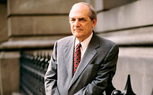 """Steven Hill appeared in 225 episodes of """"Law & Order"""" from 1990 to 2000. (NBCU Photo Bank/Getty Images)"""