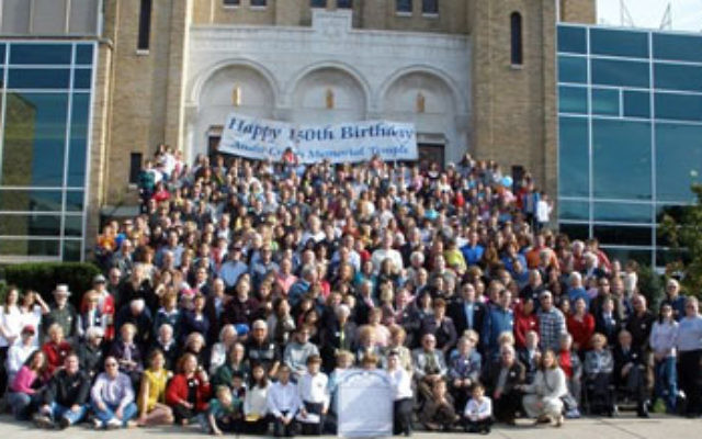 Members of Anshe Emeth Memorial Temple in New Brunswick gathered on Oct. 11 to celebrate the synagogue's 150th anniversary.