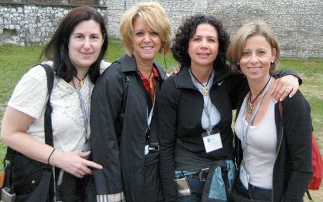 Arlene Frumkin, third from left, with other Middlesex federation leaders on a 2008 United Jewish Communities mission to Poland and Israel. Photo courtesy Linda Block