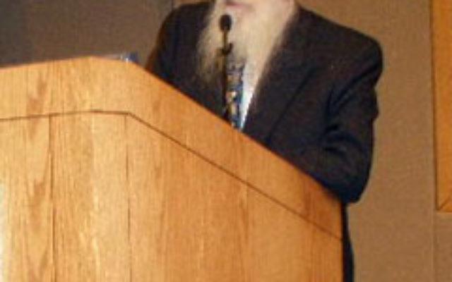 Rabbi Dr. Abraham Twerski spoke on spirituality in the healing process Nov. 2 at St. Peter's University Hospital.