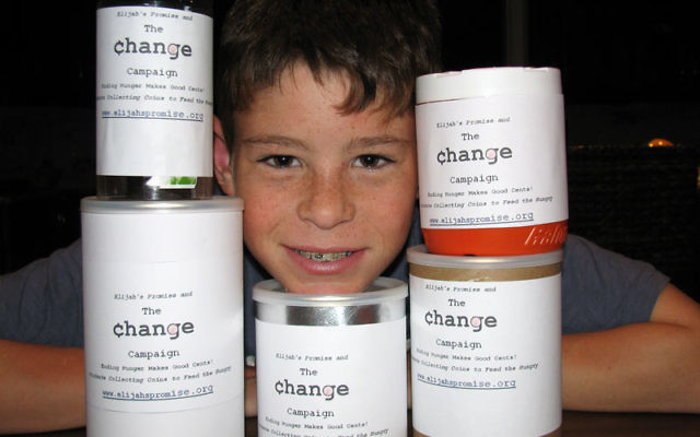 Twelve-year-old Seth Weingarten was the youngest team leader selected by Elijah's Promise soup kitchen for its Change Campaign. Photos courtesy the Weingarten family