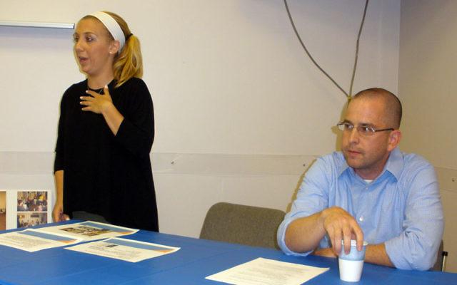 A panel considering Jewish identity and baseball featured, from left, sports columnist Ira Berkow, Rabbi Rebecca Alpert, Rabbi Michael Paley, and Martin Abramowitz.