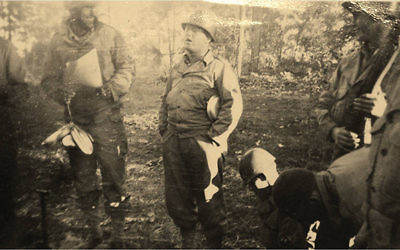 Master Sgt. Roddie Edmonds and his men during field training in Tennessee before shipping out for Europe.