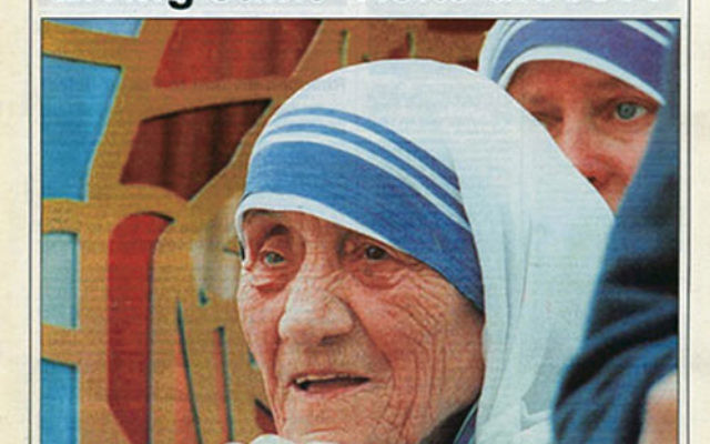 A local Catholic paper reports on the visit by Mother Teresa to St. Joseph's Church in Mahanoy City, Pa., in June 1995.