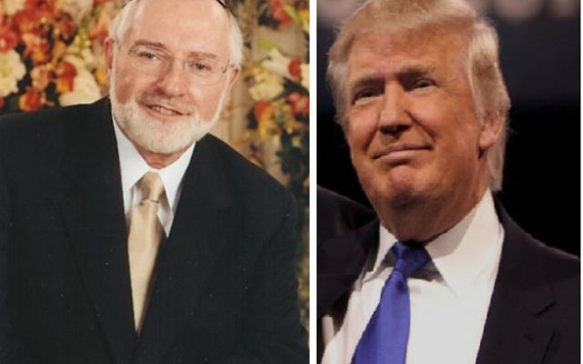 Rabbi Bernhard Rosenberg, left, said he believes the Trump campaign will regret not taking a more pro-Israel stance.
