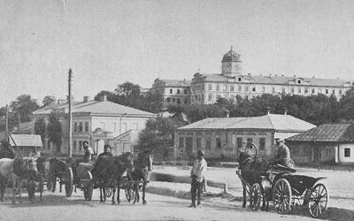 A street in Kishinev in the 1880s. Courtesy of Liveright Publishing