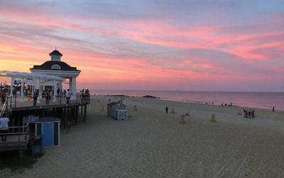 The view from the beach by the author's home in Long Beach. (Photo by Martin Raffel)