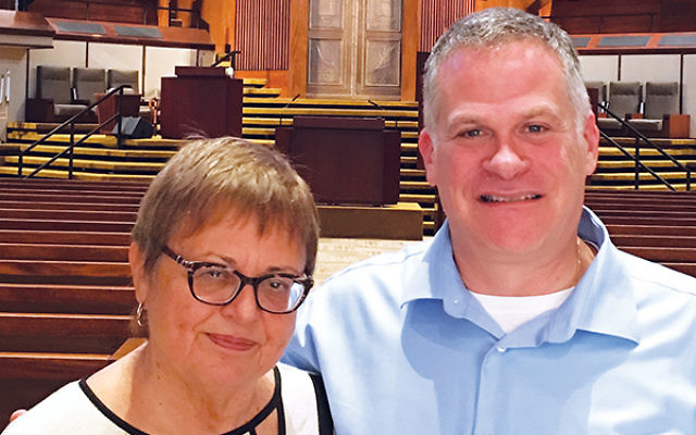 Alice Lutwak and Marc Rothstein, her successor as executive director of Congregation B'nai Jeshurun in Short Hills. Photo by Johanna Ginsberg