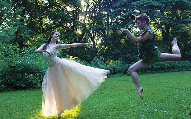 """Dancers Anne Sandefur and Garrett McCann will perform in the Axelrod Contemporary Ballet Theater's production of """"A Midsummer Night's Dream."""" Photo by Ernesto Mancebo"""