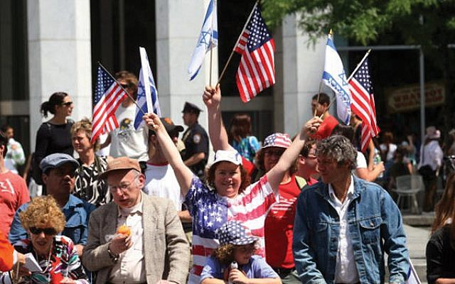 Scene from the 2018 Celebrate to Israel Parade in New York City. Hiroko Masuike/Getty Images