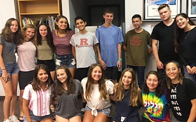 Members of the planning committee for the Israel Teen Summit. Courtesy Federation