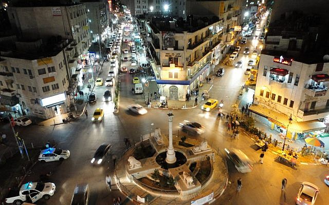 Ramallah at night. Flickr CC/Heinrich Böll Foundation