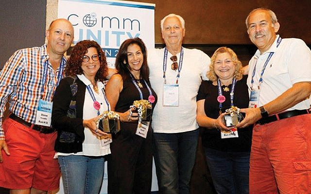 Mission vice chairs include,  from left, Steve and Erica Needle, Debbie and Allan Janoff, and Beena and Steve Levy.