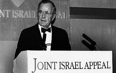 President George H.W. Bush speaking in 1993. Jewish Chronicle/Heritage Images/ Getty Images