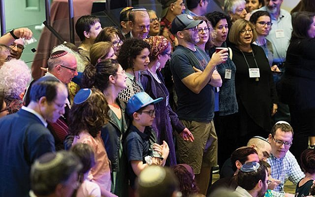 Havdalah at the 2018 LimmudNY conference in Princeton. The 2019 conference will take place in New York City. Photo by Michael Brochstein