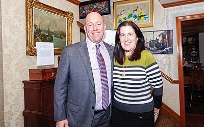 Susan Antman, who will take over as federation executive director Jan. 1, with Keith Krivitzky, who announced his resignation on Dec. 10. Photo by Diedre Ryan Photography