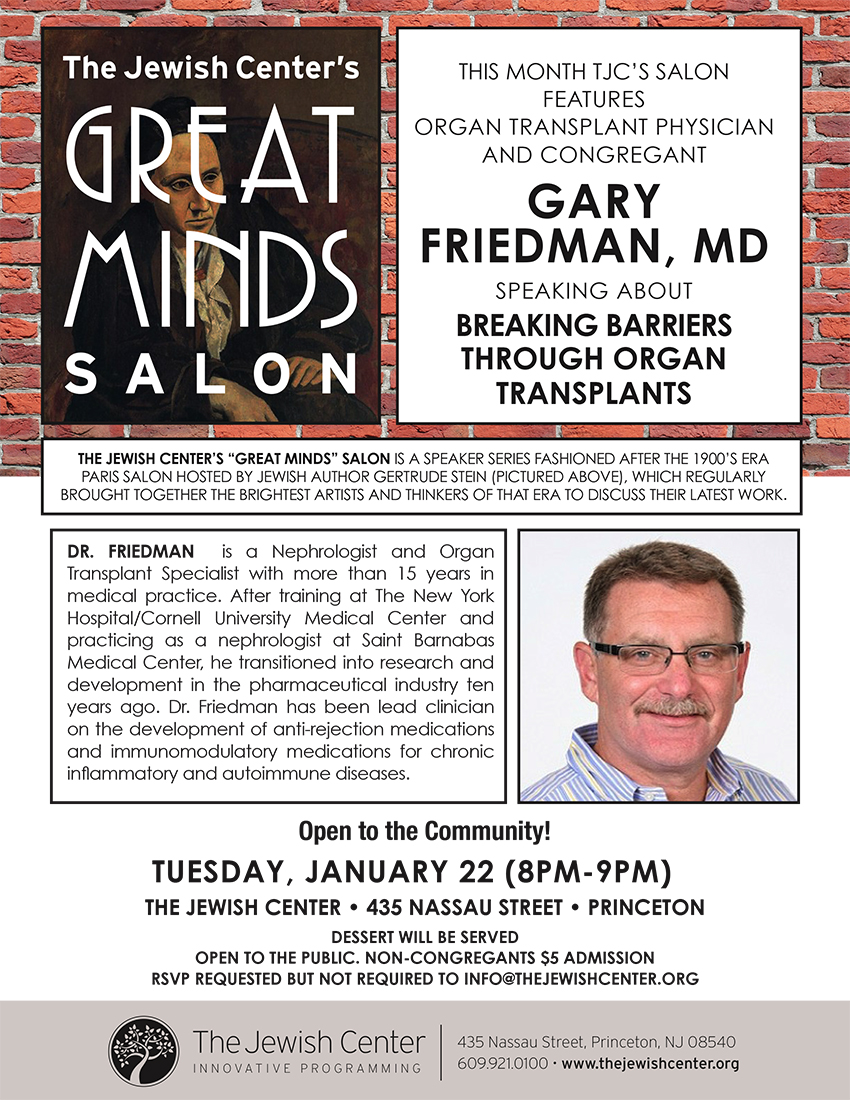 Great Minds Salon: Breaking Barriers Through Organ Transplants