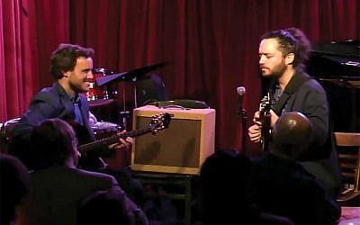 Guitarists Gilad Hekselman (left) and Yotam Silberstein in Cornelia's Israeli Spotlight festival, on Jan. 12, 2016.