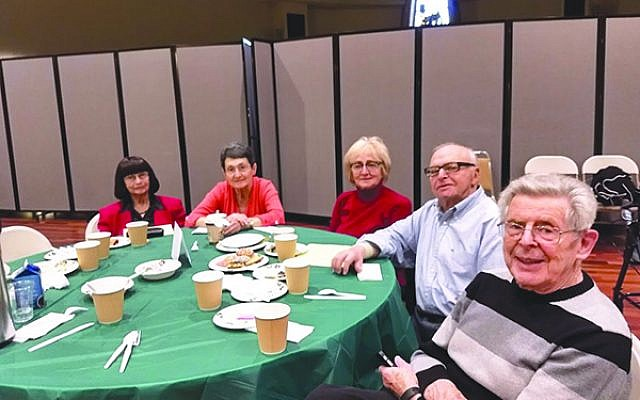 Holocaust survivors at Café Europa, a monthly Jewish Family Services of Middlesex County program providing socialization and entertainment.  Photos by Debra Rubin