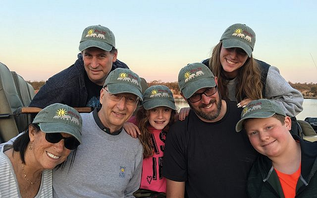 Allen and Beth Levithan on a trip to South Africa in June 2018 with their children and grandchildren. Photo courtesy Beth Levithan