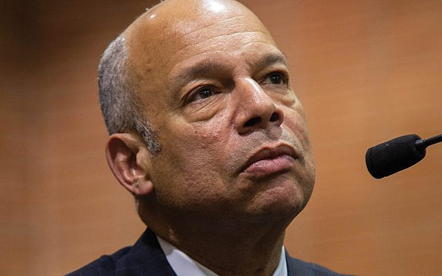 """Jeh Johnson, former national secretary of homeland security, said violence is fueled by """"the decline in civility from political leaders."""" Photo by Tony Turner"""