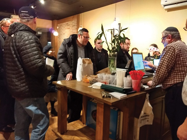 Customers Line Up At China Lee Restaurant To Pick Their Takeout Orders